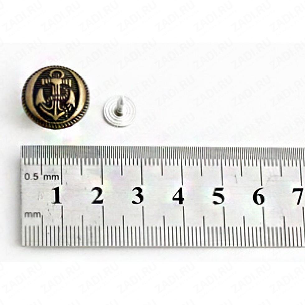 Пуговицы джинсовые 16мм P004/бронза